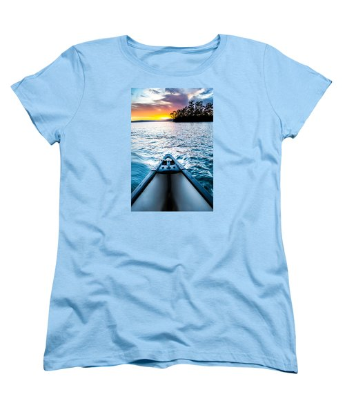 Canoeing In Paradise Women's T-Shirt (Standard Cut) by Parker Cunningham