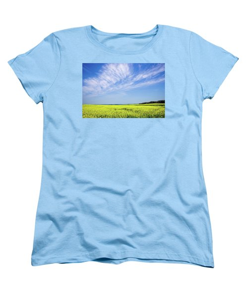 Canola Blue Women's T-Shirt (Standard Cut) by Keith Armstrong
