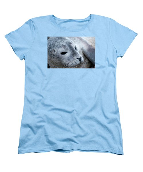 Women's T-Shirt (Standard Cut) featuring the photograph Cape Ann Seal by Mike Martin