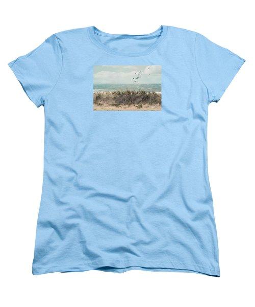 Cape Cod Beach Scene Women's T-Shirt (Standard Cut) by Juli Scalzi