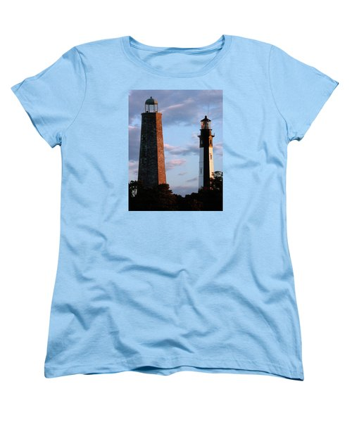 Cape Henry Lighthouses In Virginia Women's T-Shirt (Standard Cut) by Skip Willits