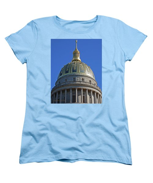 Capitol Dome Charleston Wv Women's T-Shirt (Standard Cut) by DigiArt Diaries by Vicky B Fuller