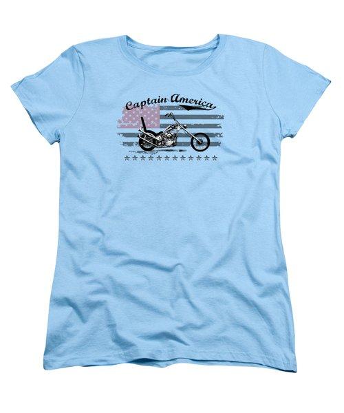 Captain America Women's T-Shirt (Standard Cut) by Mark Rogan