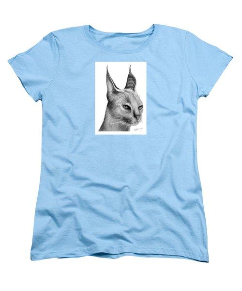 Caracal Women's T-Shirt (Standard Cut) by Lawrence Tripoli