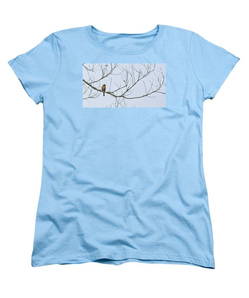 Women's T-Shirt (Standard Cut) featuring the photograph Cardinal In Tree by Richard Rizzo