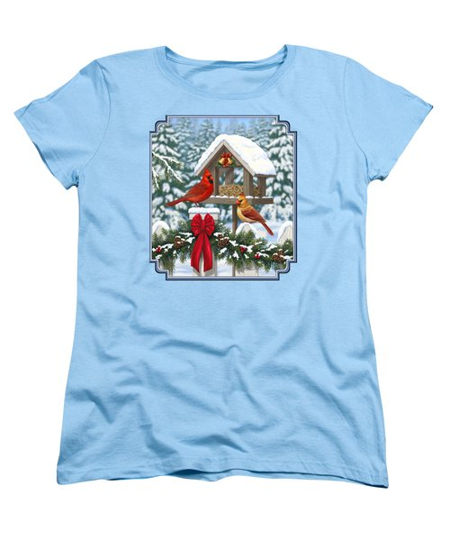Cardinals Christmas Feast Women's T-Shirt (Standard Cut)