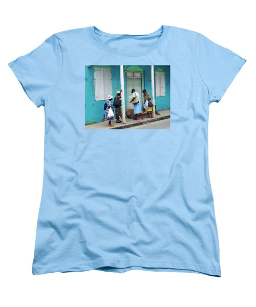 Women's T-Shirt (Standard Cut) featuring the photograph Caribbean Blue, Speightstown, Barbados by Kurt Van Wagner