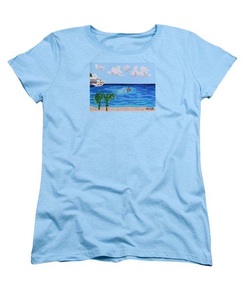 Caribbean Jet Ski Women's T-Shirt (Standard Cut) by Margaret Brooks