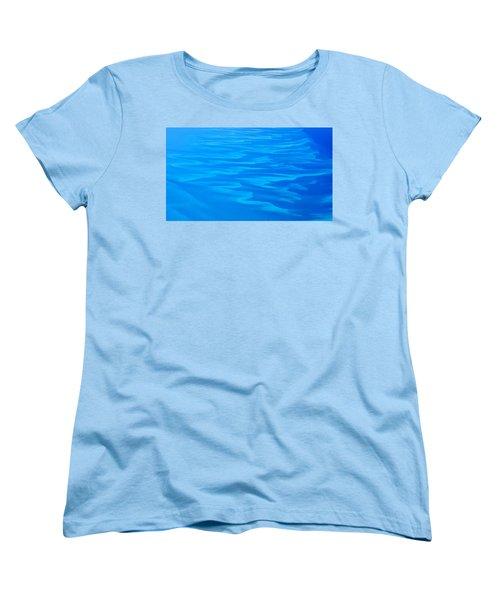 Caribbean Ocean Abstract Women's T-Shirt (Standard Cut) by Jetson Nguyen