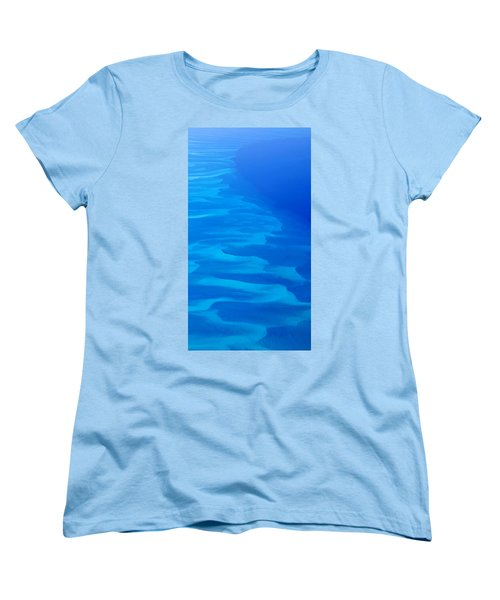 Caribbean Ocean Mosaic  Women's T-Shirt (Standard Cut) by Jetson Nguyen