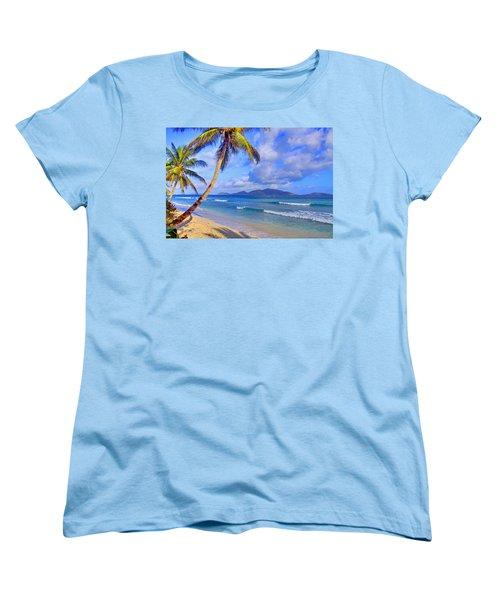 Caribbean Paradise Women's T-Shirt (Standard Cut) by Scott Mahon