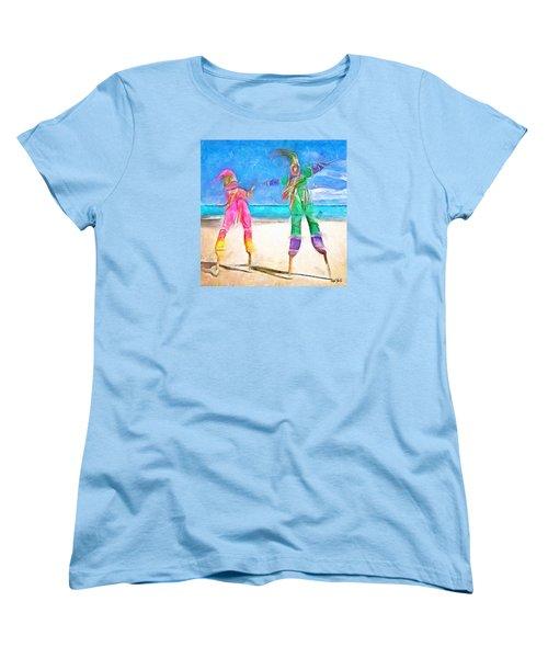 Caribbean Scenes - Moko Jumbie Women's T-Shirt (Standard Cut)