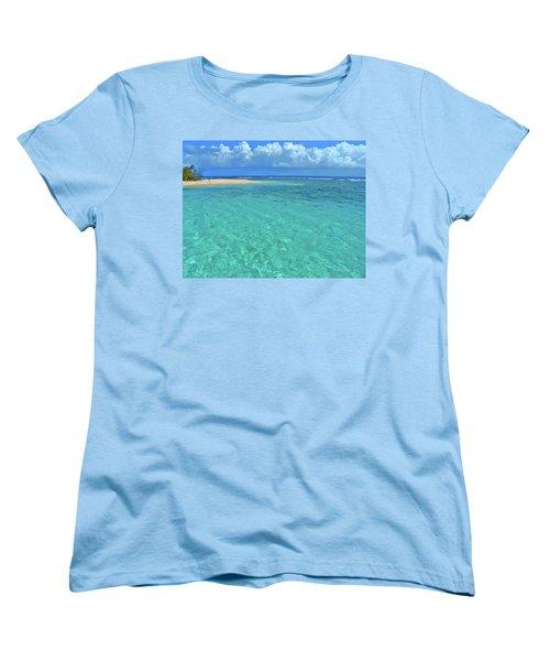 Caribbean Water Women's T-Shirt (Standard Cut) by Scott Mahon