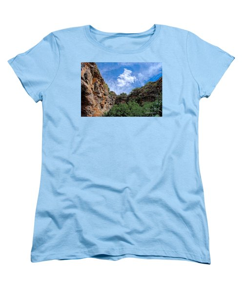 Women's T-Shirt (Standard Cut) featuring the photograph Carlsbad Caverns by Gina Savage