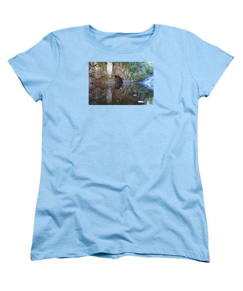 Women's T-Shirt (Standard Cut) featuring the photograph Carlson Creek Falls by Sandra Updyke