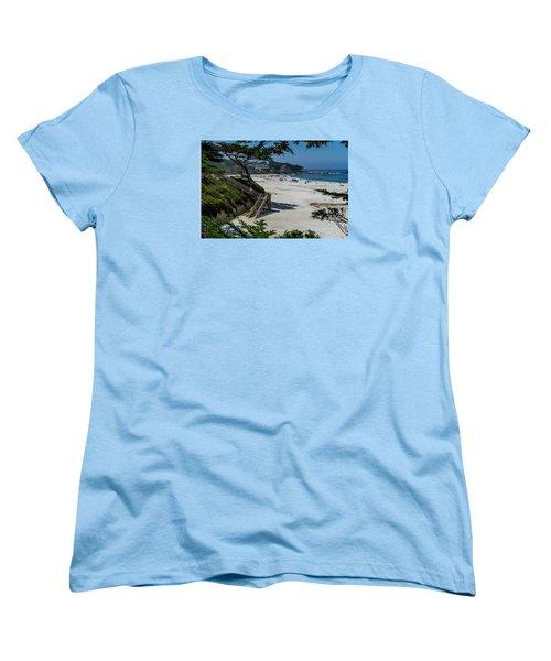 Carmel Beach Stairs Women's T-Shirt (Standard Cut) by Derek Dean