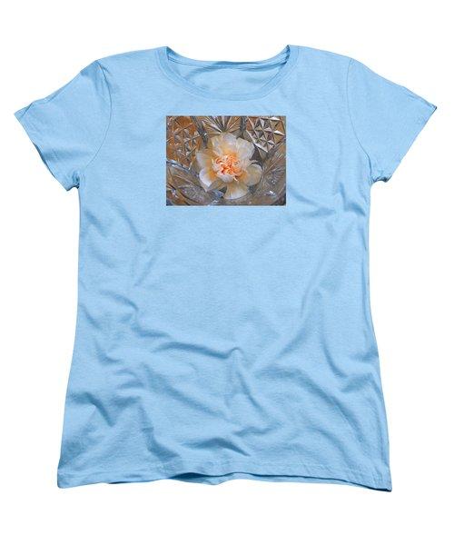 Carnation In Cut Glass 7 Women's T-Shirt (Standard Cut) by Lynda Lehmann