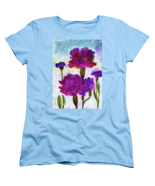 Women's T-Shirt (Standard Cut) featuring the painting Carnations by Julie Maas