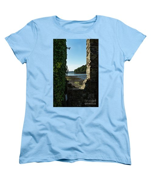 Women's T-Shirt (Standard Cut) featuring the photograph Photographs Of Cornwall Carnon Mine Window by Brian Roscorla