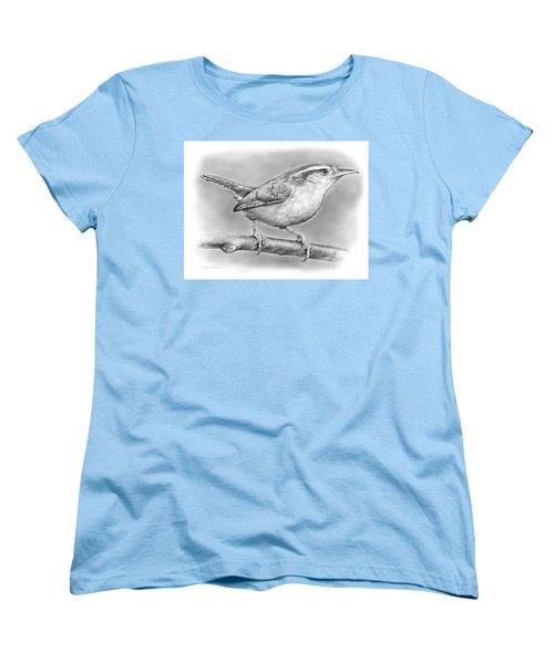Carolina Wren Women's T-Shirt (Standard Cut) by Greg Joens