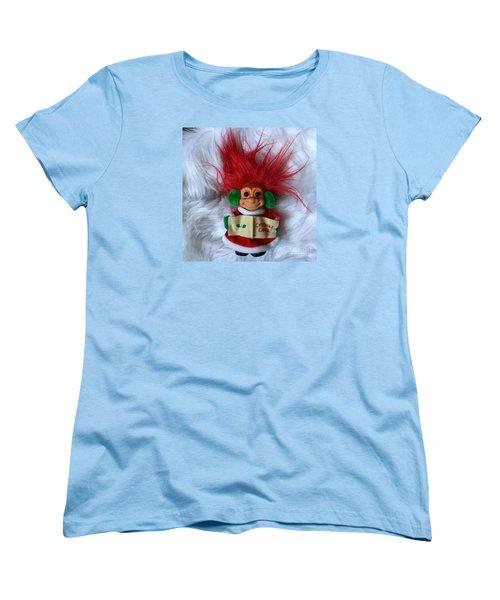 Caroling Troll Christmas 2015 Women's T-Shirt (Standard Cut)