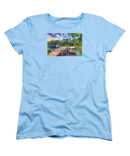 Caroni Swamp Women's T-Shirt (Standard Cut) by Nadia Sanowar