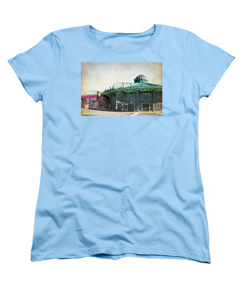 Carousel House At Asbury Park Women's T-Shirt (Standard Cut) by Colleen Kammerer