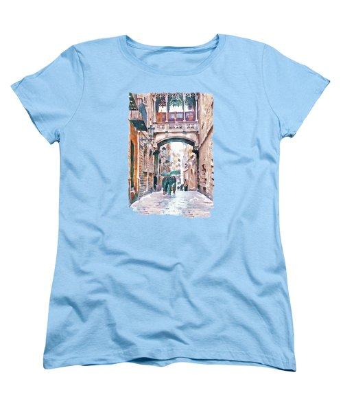 Carrer Del Bisbe - Barcelona Women's T-Shirt (Standard Cut)