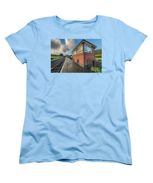Women's T-Shirt (Standard Cut) featuring the photograph Carrog Signal Box by Adrian Evans