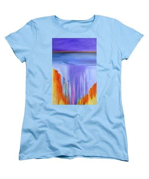Women's T-Shirt (Standard Cut) featuring the painting Casade by Jo Appleby