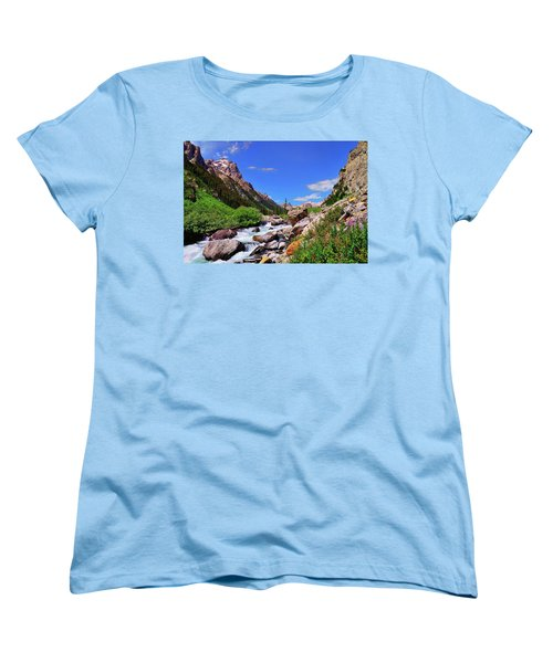 Cascade Canyon Women's T-Shirt (Standard Cut) by Greg Norrell