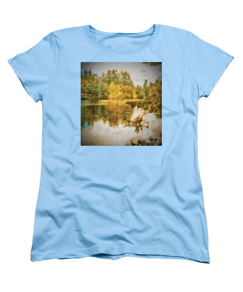 Women's T-Shirt (Standard Cut) featuring the photograph Cascade Lake by William Wyckoff