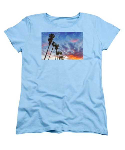 Women's T-Shirt (Standard Cut) featuring the photograph Casitas Palms by John A Rodriguez