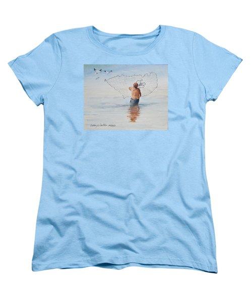 Cast Net Fishing Women's T-Shirt (Standard Cut)
