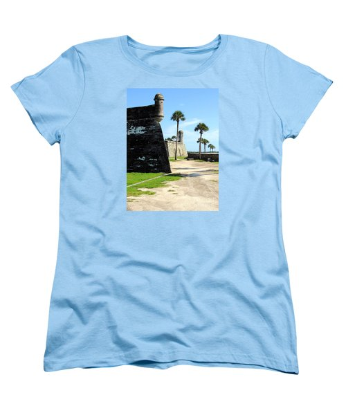 Women's T-Shirt (Standard Cut) featuring the photograph Castillo De San Marcos St Augustine Florida by Bill Holkham