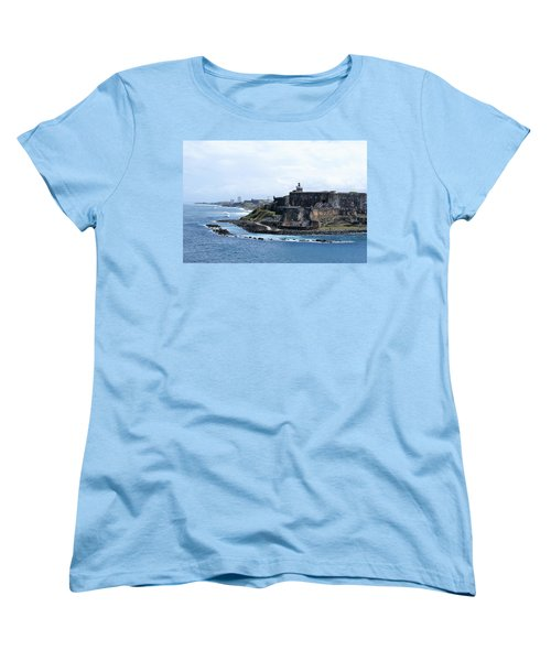 Women's T-Shirt (Standard Cut) featuring the photograph Castillo San Felipe Del Morro by Lois Lepisto