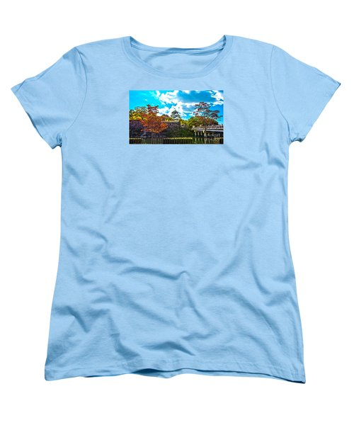 Women's T-Shirt (Standard Cut) featuring the photograph Castle In Osaka by Pravine Chester