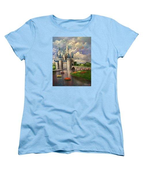 Castle Of Dreams Women's T-Shirt (Standard Cut) by Randy Burns