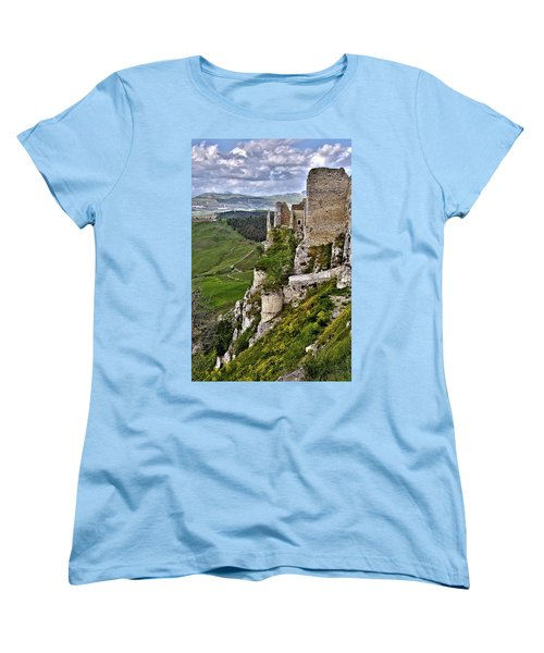 Castle Of Pietraperzia Women's T-Shirt (Standard Cut) by Patrick Boening