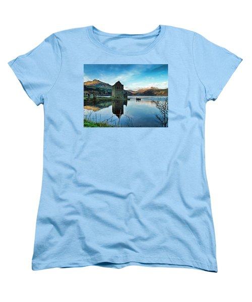 Castle On The Loch Women's T-Shirt (Standard Cut) by Lynn Bolt