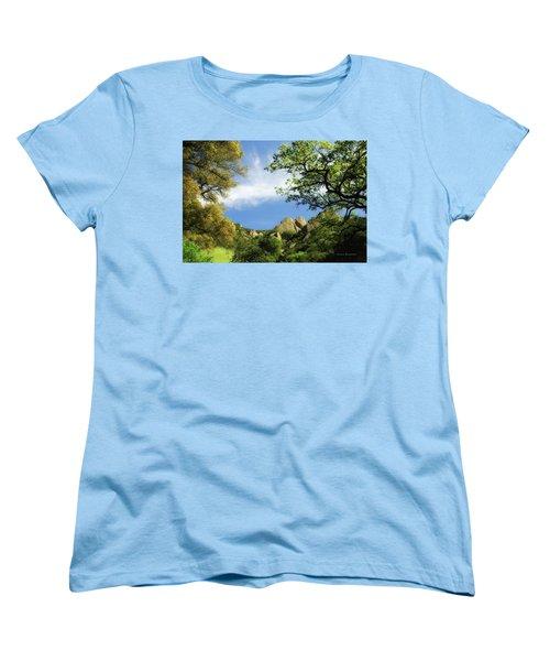Castle Rock Women's T-Shirt (Standard Cut) by Donna Blackhall