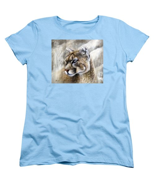 Catamount Women's T-Shirt (Standard Cut) by Sandi Baker