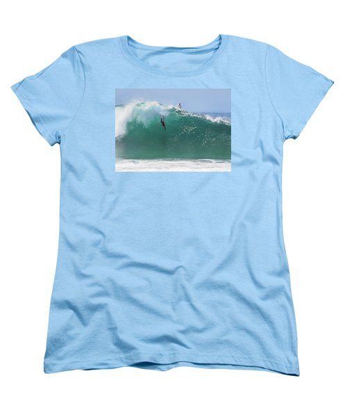 Catch Me Women's T-Shirt (Standard Cut) by Joe Schofield