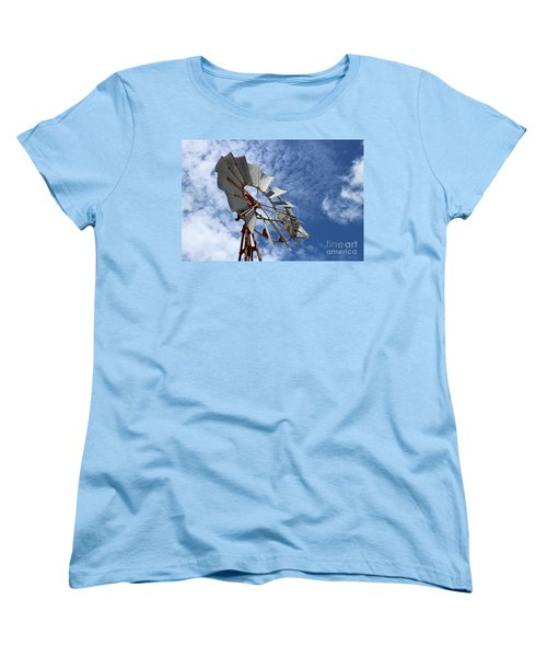 Women's T-Shirt (Standard Cut) featuring the photograph Catching The Breeze by Stephen Mitchell