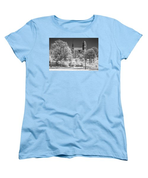 Women's T-Shirt (Standard Cut) featuring the photograph Cathedral Basilica Of The Sacred Heart Ir by Susan Candelario