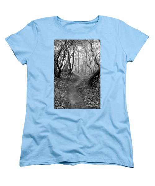 Cathedral Hills Serenity In Black And White Women's T-Shirt (Standard Cut) by Marie Neder
