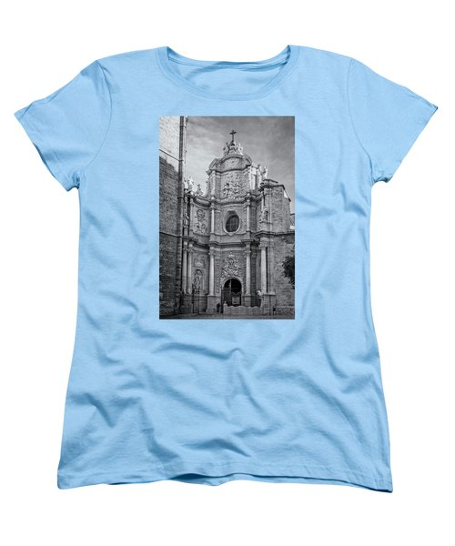 Women's T-Shirt (Standard Cut) featuring the photograph Cathedral Valencia Spain by Joan Carroll