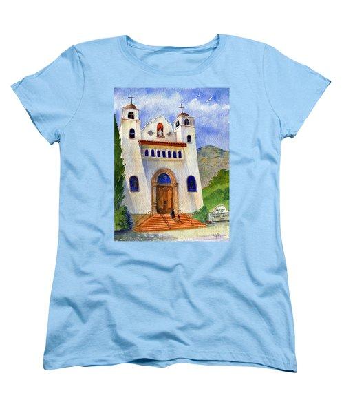 Catholic Church Miami Arizona Women's T-Shirt (Standard Cut) by Marilyn Smith