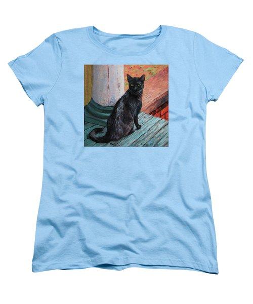 Cat's Pause Women's T-Shirt (Standard Cut) by Bonnie Mason