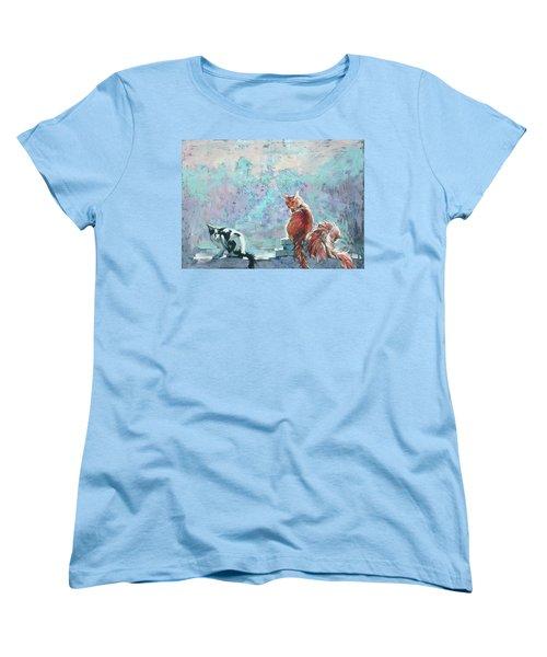 Cats. Washed By Rain Women's T-Shirt (Standard Cut)